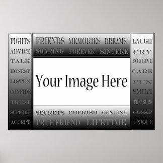 Wörter von Freundschaft-Bild Rahmen durch Poster