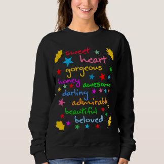 Wörter von lustigem elegantem der Liebe Sweatshirt