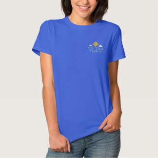 Wörter, zum vorbei zu leben besticktes T-Shirt
