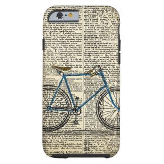 WÖRTERBUCH Kunst-blaues Fahrrad-Fahrrad Vintag Tough iPhone 6 Hülle