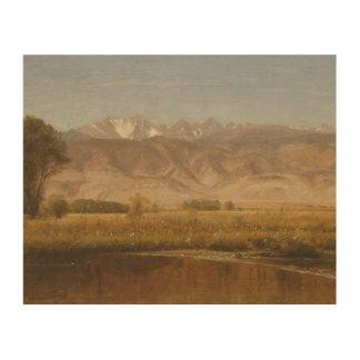Worthington Whittredge - Vorberge Colorado Holzwanddeko