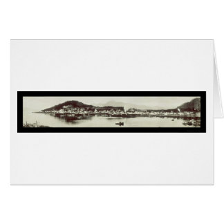 Wrangell AK Hafen-Foto 1915 Karte