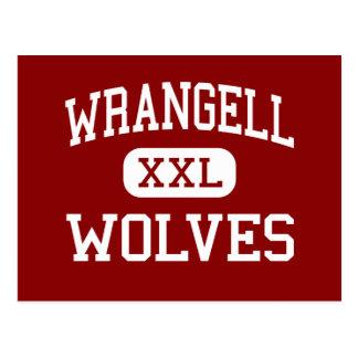 Wrangell - Wölfe - Highschool - Wrangell Alaska Postkarte