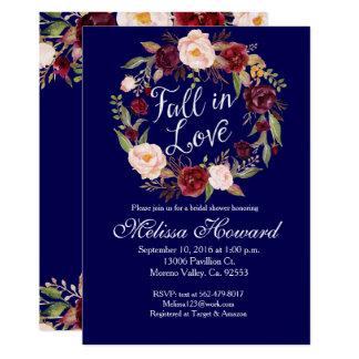 Wreath-Brautparty-Einladung 12,7 X 17,8 Cm Einladungskarte