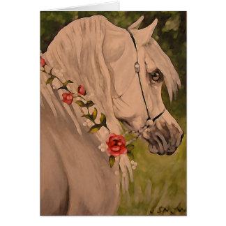 """Wreath der Rosen"" arabischer Pferdekopf Karte"