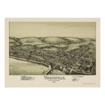 Wrightsville, panoramische Karte PAs - 1894 Poster