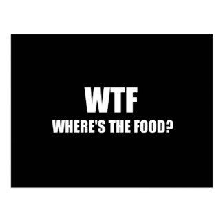 WTF Wheres die Nahrung Postkarte