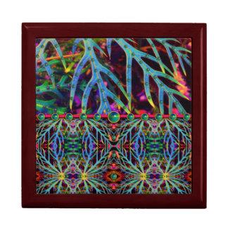 Wulstige Blätter-Abends-Tasche Große Quadratische Schatulle