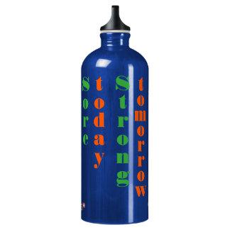Wunde-heute starke Morgen-Fitness-Zitat-Flasche Wasserflaschen