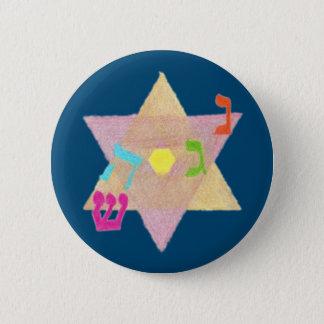 Wunder des Chanukka-Erinnerungs-Knopfes Runder Button 5,1 Cm