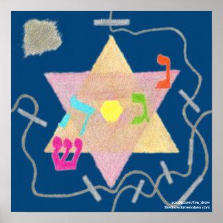 Wunder des Chanukka-Erinnerungs-Plakats Poster