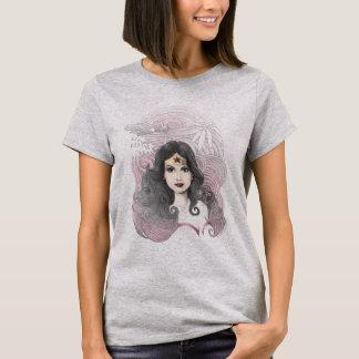 Wunder-Frau Eagle und Bäume T-Shirt