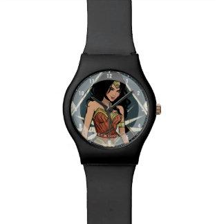 Wunder-Frau mit Klinge-Comic-Kunst Uhr