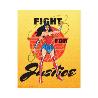 Wunder-Frau mit Lasso - Kampf für Gerechtigkeit Leinwanddrucke
