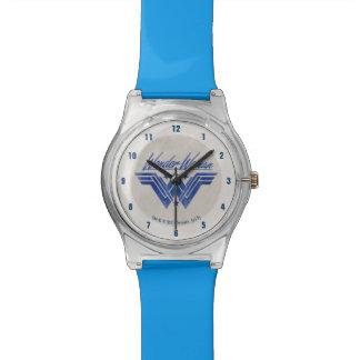 Wunder-Frau stapelte Stern-Symbol Armbanduhr
