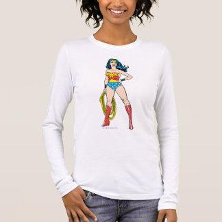 Wunder-Frau stehend Langarm T-Shirt