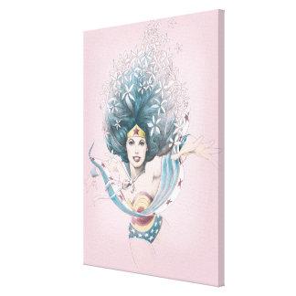 Wunder-Frau und Blumen Galerie Gefaltete Leinwand