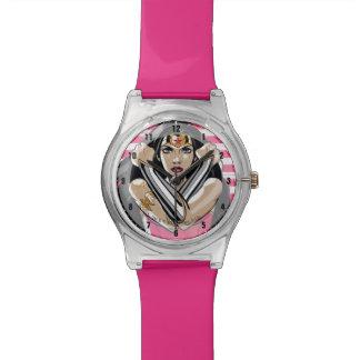 Wunder-Frau verteidigen - Schablone Armbanduhr