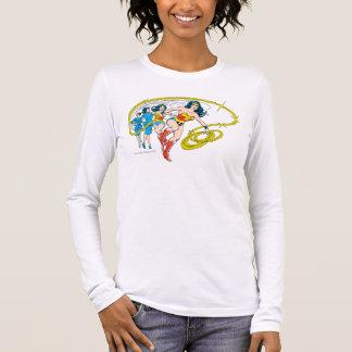 Wunder-Frau wandeln um Langarm T-Shirt