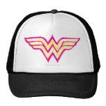 Wunder-Frauen-buntes rosa und gelbes Logo Baseball Kappen