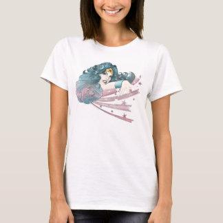 Wunder-Frauen-Delphin und Streifen T-Shirt