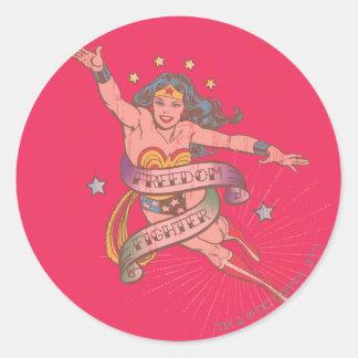 Wunder-Frauen-Freiheits-Kämpfer Runder Aufkleber