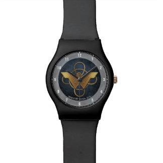 Wunder-Frauen-Goldsymbol über Lasso Armbanduhr