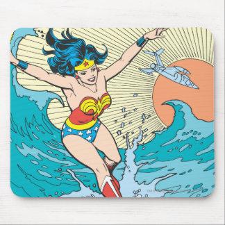 Wunder-Frauen-Ozean-Himmel Mousepads