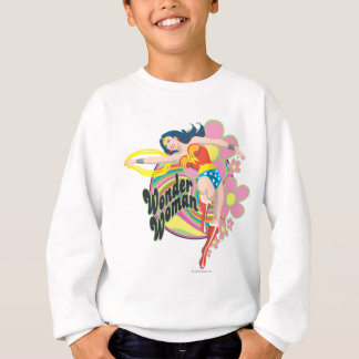 Wunder-Frauen-Retro Blumen Sweatshirt
