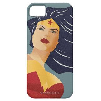 Wunder-Frauen-Retro Stadt-Sonnendurchbruch iPhone 5 Schutzhüllen