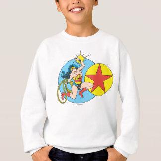 Wunder-Frauen-roter Stern Sweatshirt