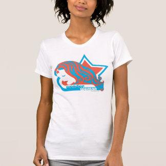 Wunder-Frauen-roter u. blauer Stern T-shirt