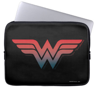 Wunder-Frauen-rotes blaues Steigungs-Logo Laptop Schutzhüllen