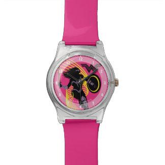 Wunder-Frauen-Silhouette-Ikone der Uhr
