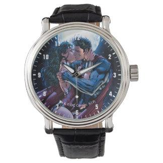 Wunder-Frauen-u. Supermann-Kuss der Armbanduhr