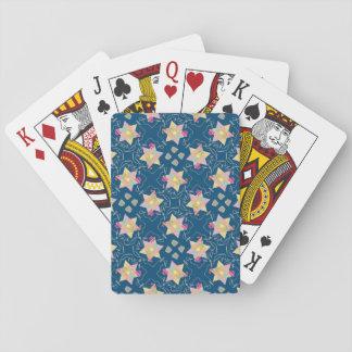 Wunder gemusterter Spielkarten Chanukkas