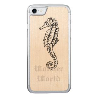 """Wunder-Welt"" - Seepferd Carved iPhone 8/7 Hülle"