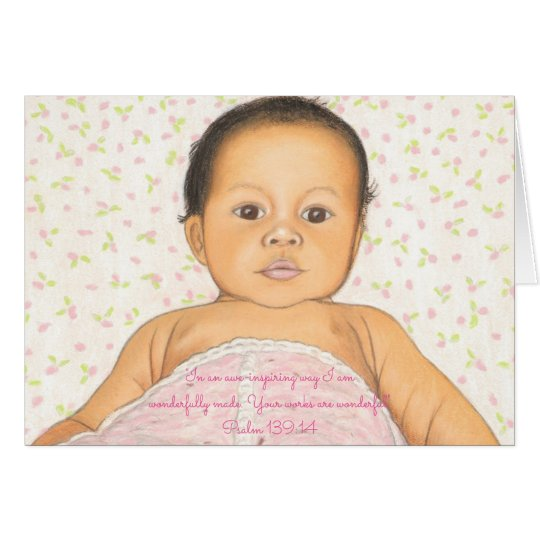 Wunderbar Made~Scripture~Baby Karte