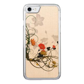 Wunderbare Blumen im Rot und im Gelb Carved iPhone 8/7 Hülle