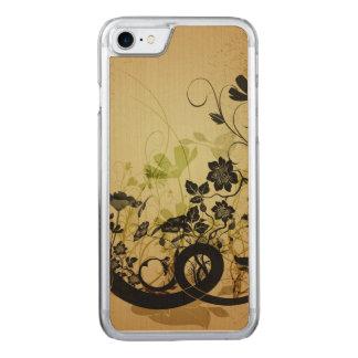 Wunderbare Blumen und Blätter Carved iPhone 8/7 Hülle