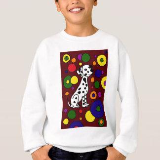 Wunderbare bunte Dalmation und Stellen-Kunst Sweatshirt