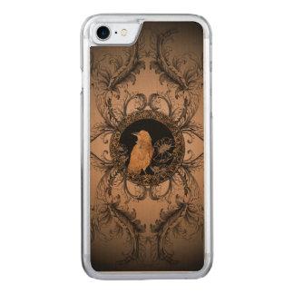 Wunderbare Krähe gemacht vom rostigen Metall Carved iPhone 8/7 Hülle