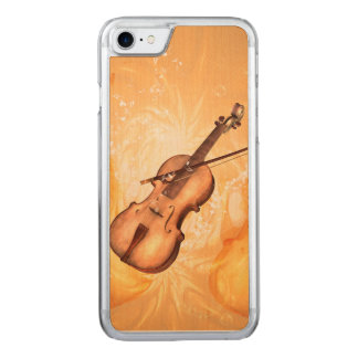 Wunderbare Violine mit Violinenbogen mit Carved iPhone 8/7 Hülle