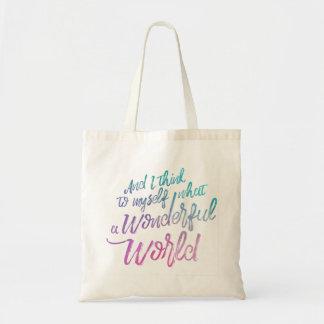 Wunderbare Weltbudget-Tasche Tragetasche