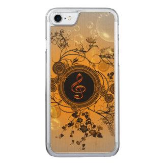 Wunderbarer dekorativer Clef Carved iPhone 8/7 Hülle