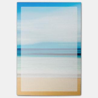 Wunderbarer entspannender Sandy-Strand-blauer Post-it Klebezettel