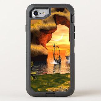 Wunderbarer Meerblick mit Felsen- und Lampenboot OtterBox Defender iPhone 8/7 Hülle