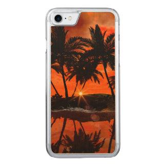 Wunderbarer roter Sonnenuntergang über der Insel Carved iPhone 8/7 Hülle