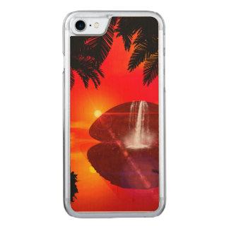 Wunderbarer Sonnenuntergang über der Insel Carved iPhone 8/7 Hülle
