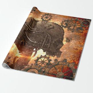 Wunderbarer steampunk Schädel Geschenkpapierrolle